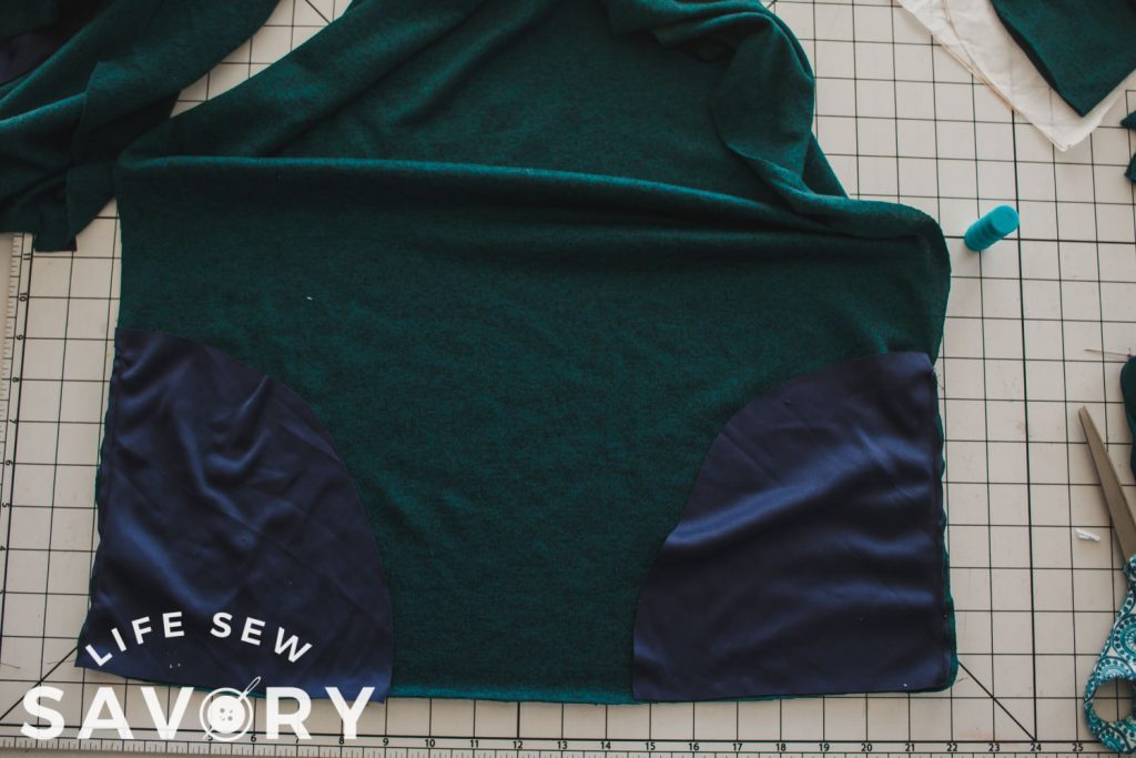 sew pockets to back