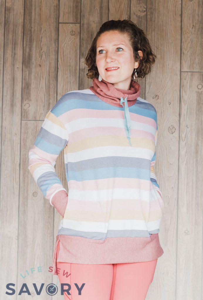 sweatshirt fleece tunic top
