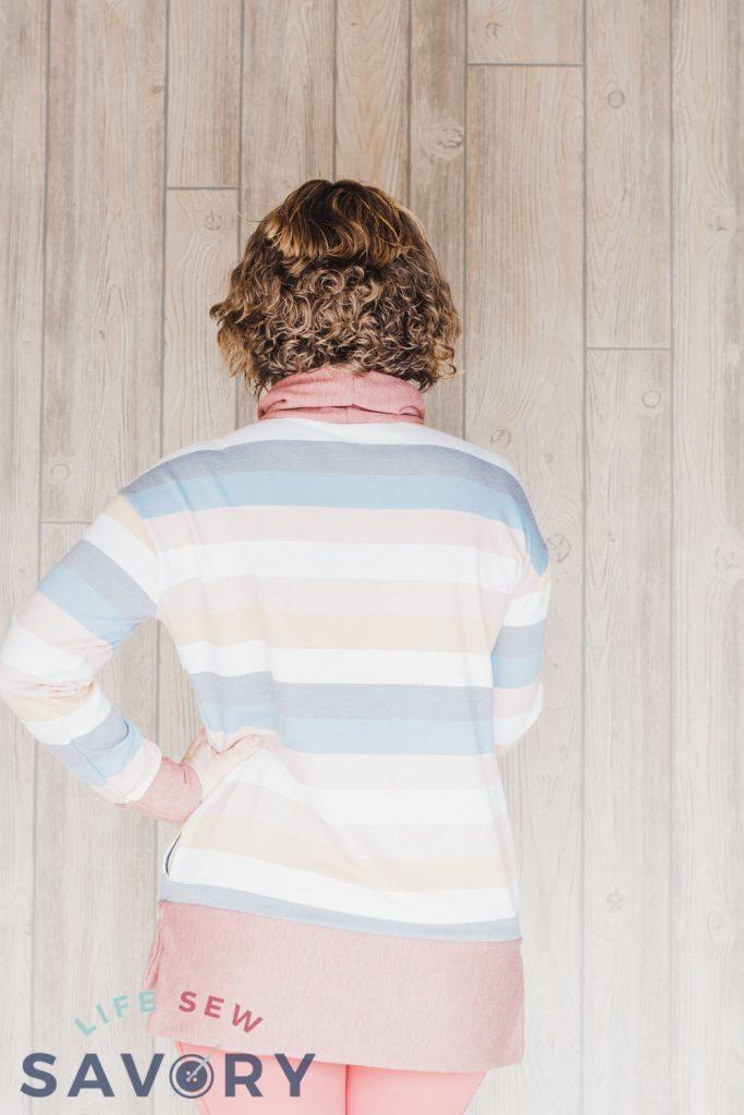 back of sweatshirt tunic