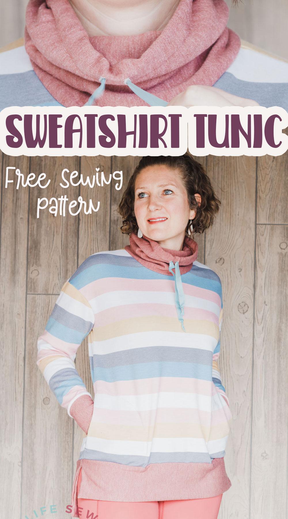free sewing pattern womens sweatshirt pattern