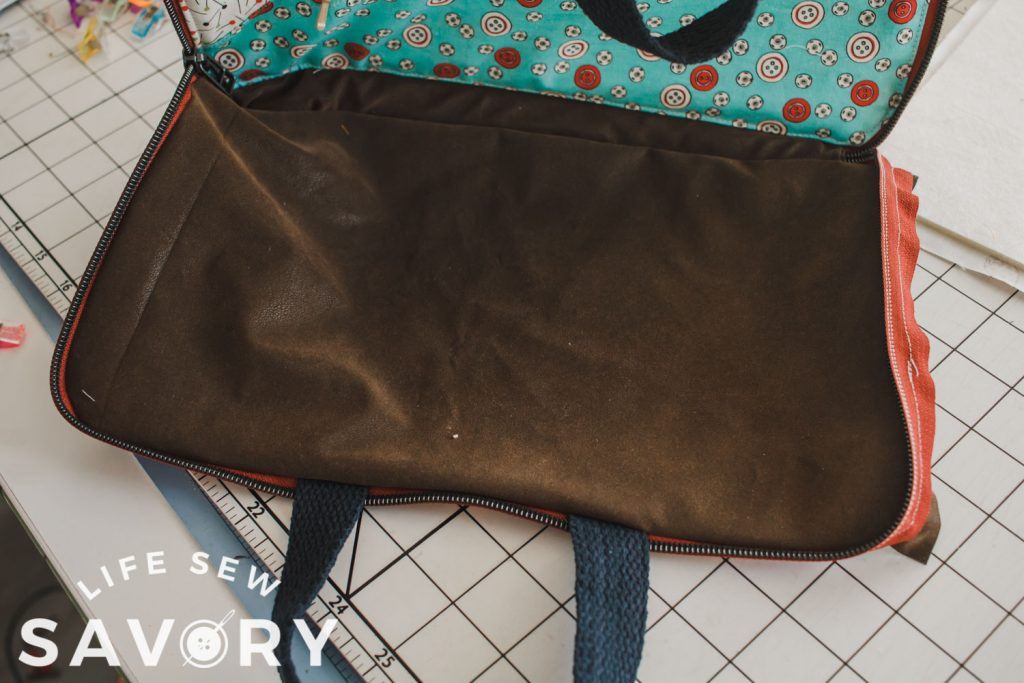 sew right side to right side of zipper