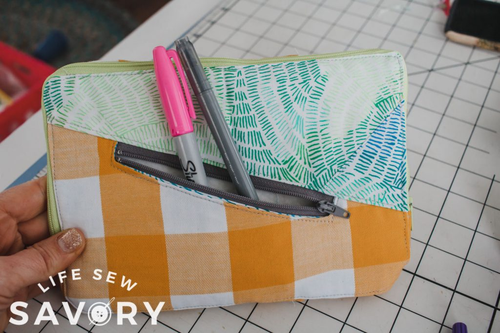 zipper pocket on padded case