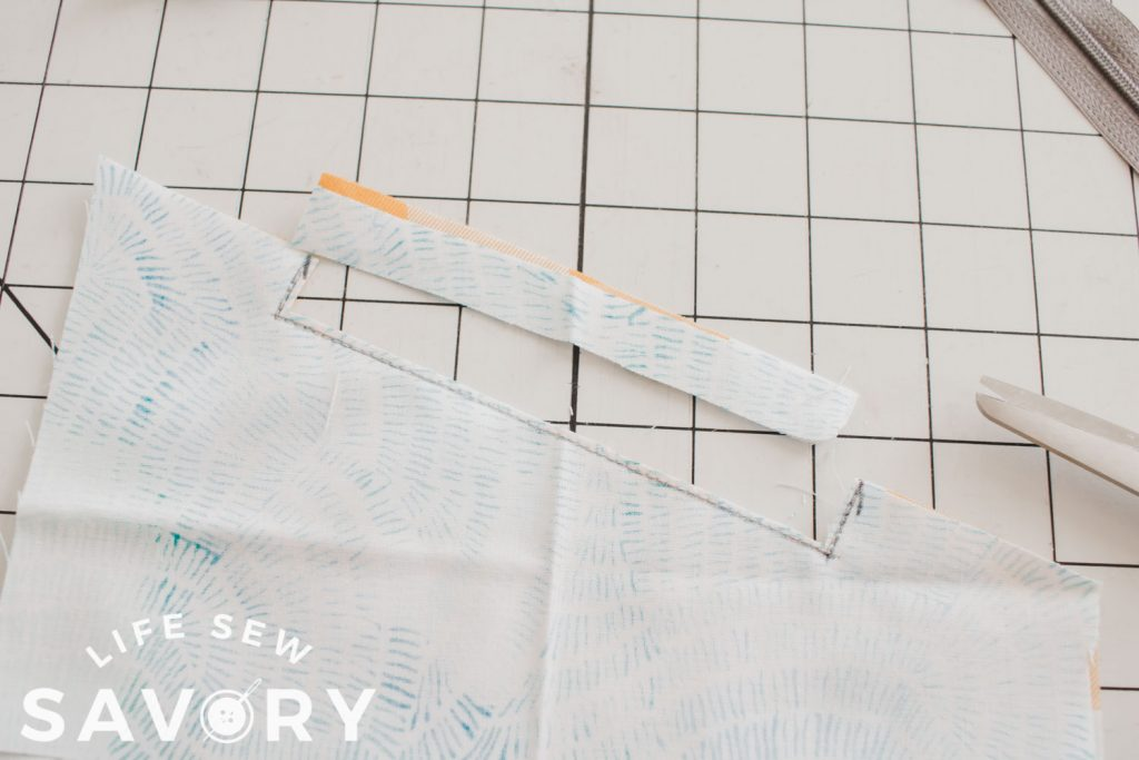 sew and cut for zipper