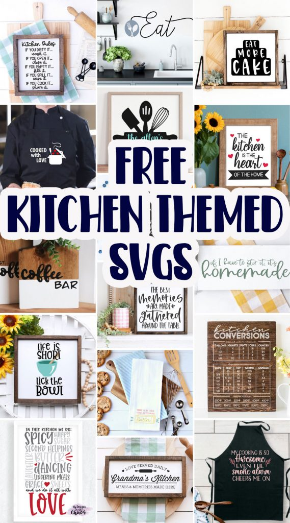 Kitchen Themed SVG crafts and DIY ideas