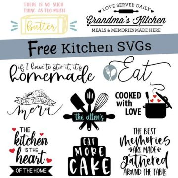 free kitchen themed svg files