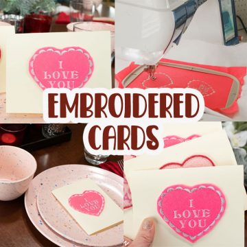 DIY embroidered valentine cards