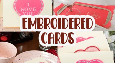 DIY embroidered valentine cards