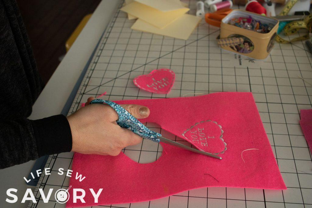 cut design from felt