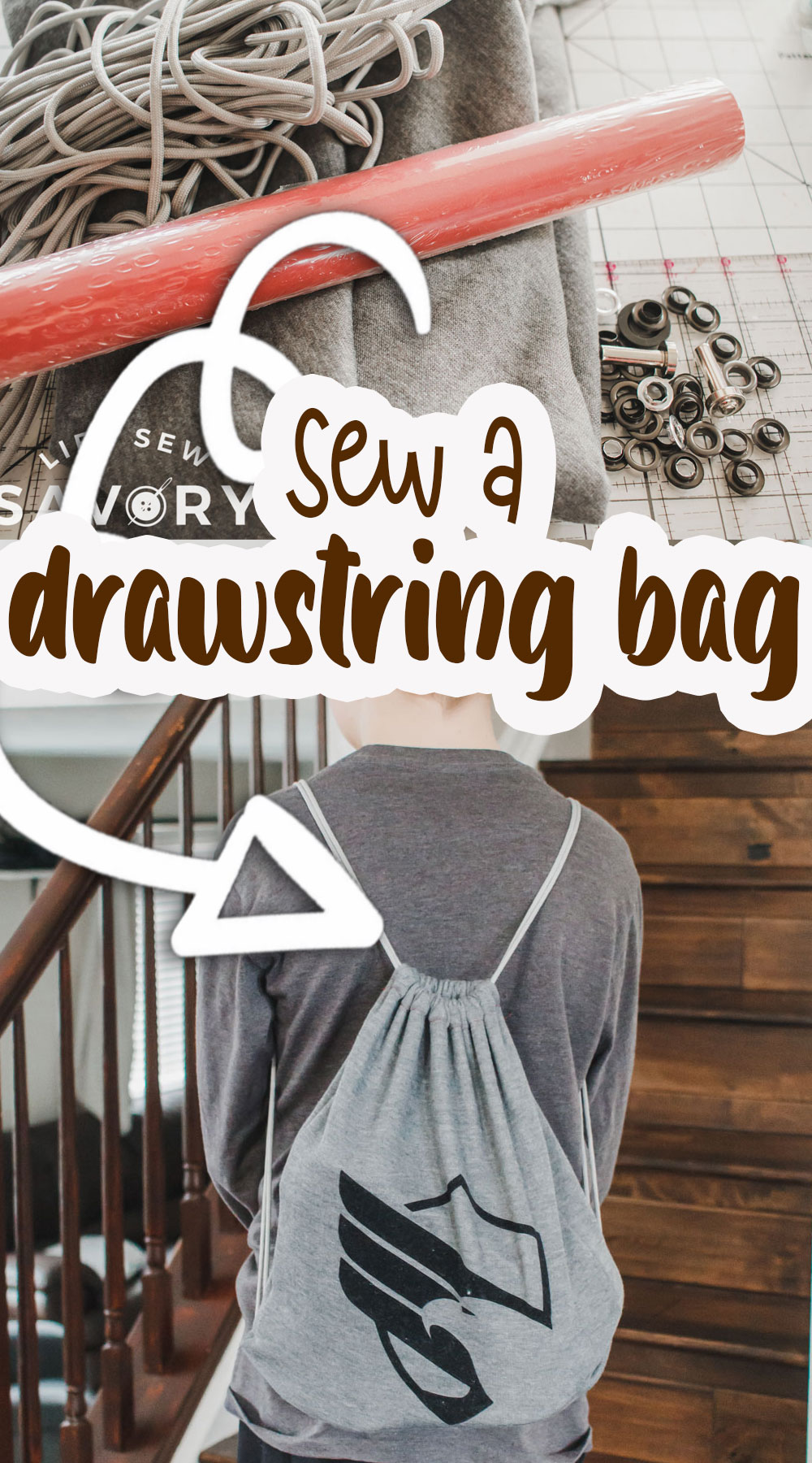 sew a drawstring bag in minutes