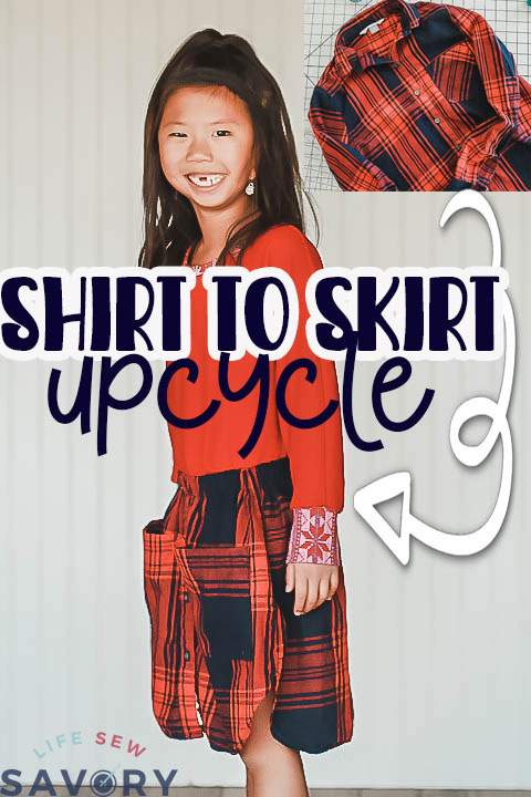 upcycle shirt to skirt sewing tutorial