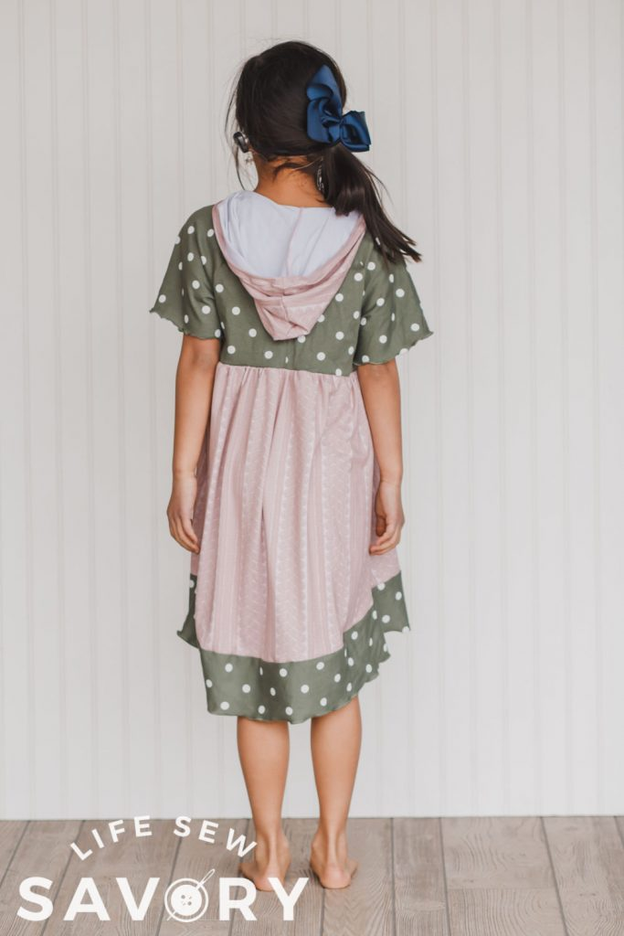 add short sleeves to a free dress pattern