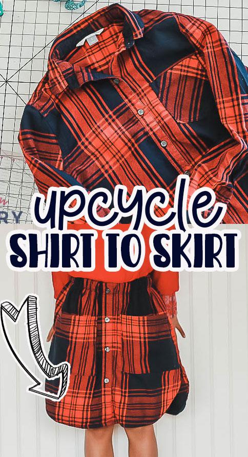 sew a skirt from a shirt