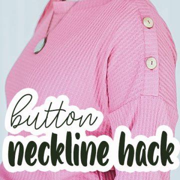 button neckline sewing hack