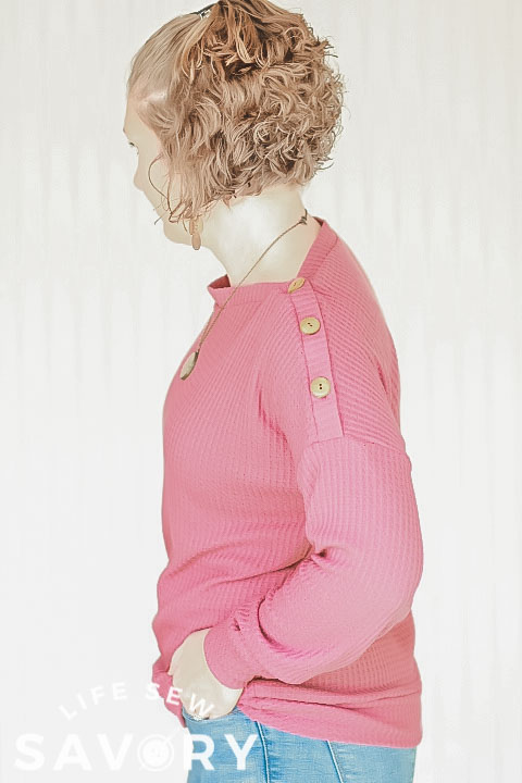 sewing hack button neckline
