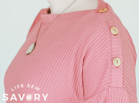 button neckline sewing hack