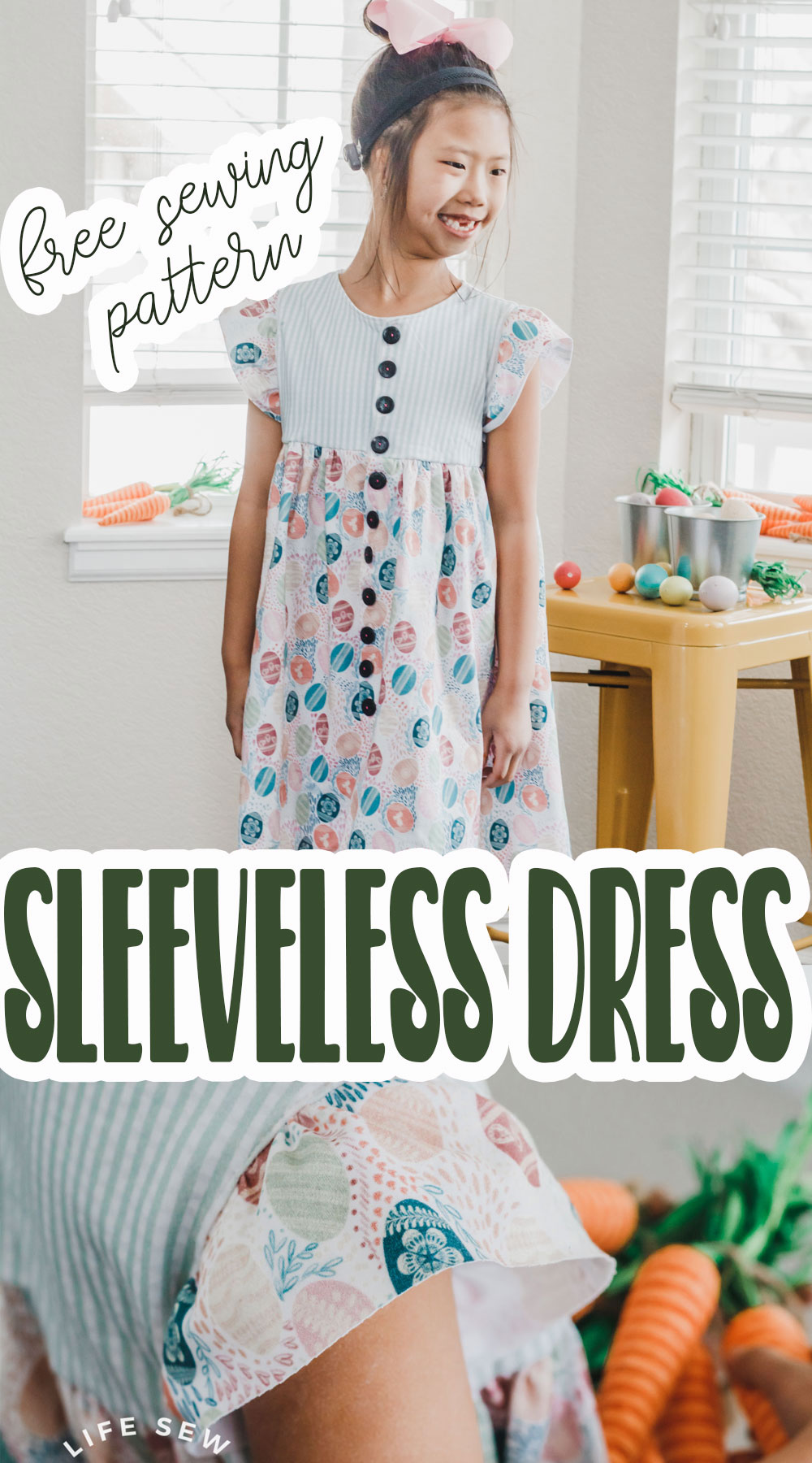 make a dress from a free sewing pattern