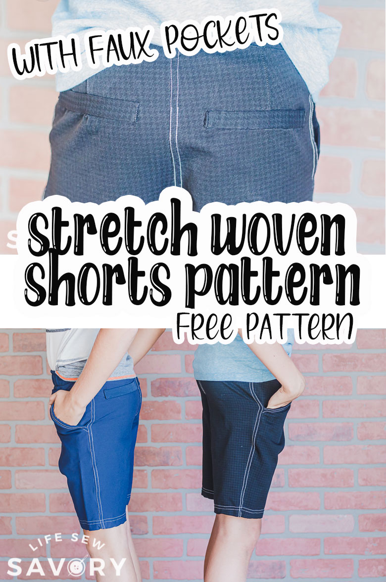 free shorts sewing pattern in pdf form