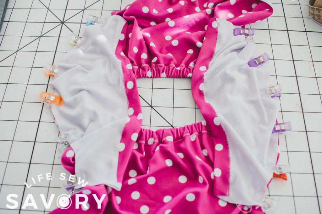 sew sleeves to shoulders