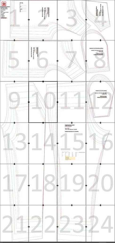 layout guide for romper
