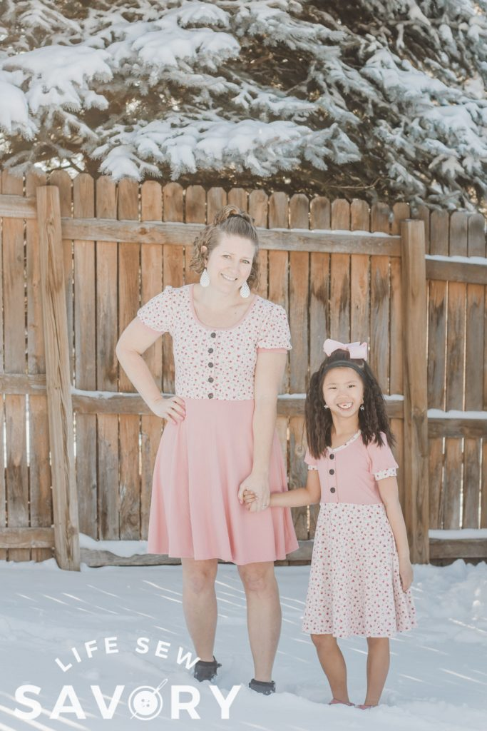 matching adult and child dresses