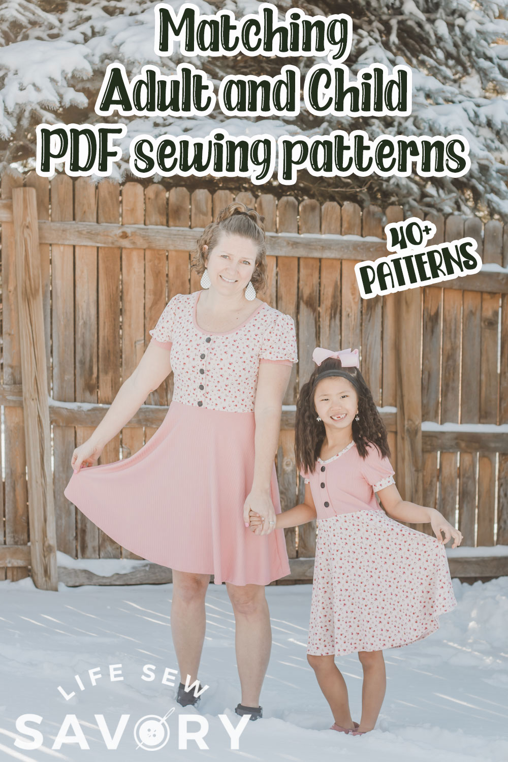 Adult and Child matching sewing patterns