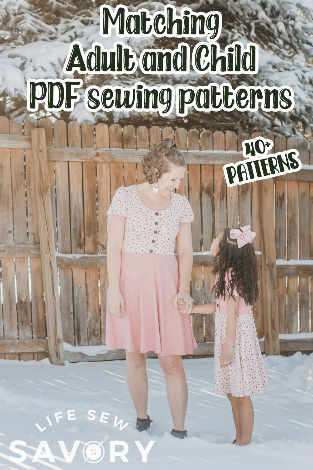 sew matching adult and kids clothes
