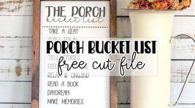 DIY porch signs bucket list