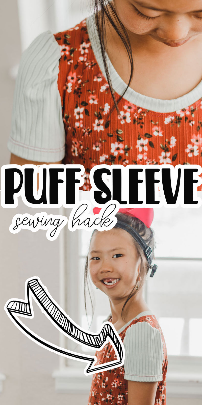 how to cut and sew puff sleeves to add to a shirt pattern