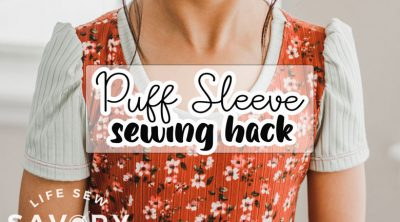 how to sew puff sleeves tutorial