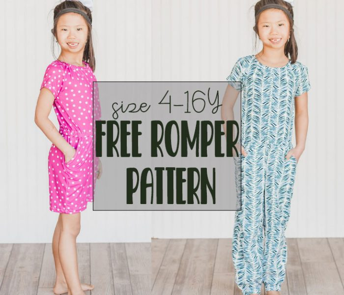 free romper pattern for girls