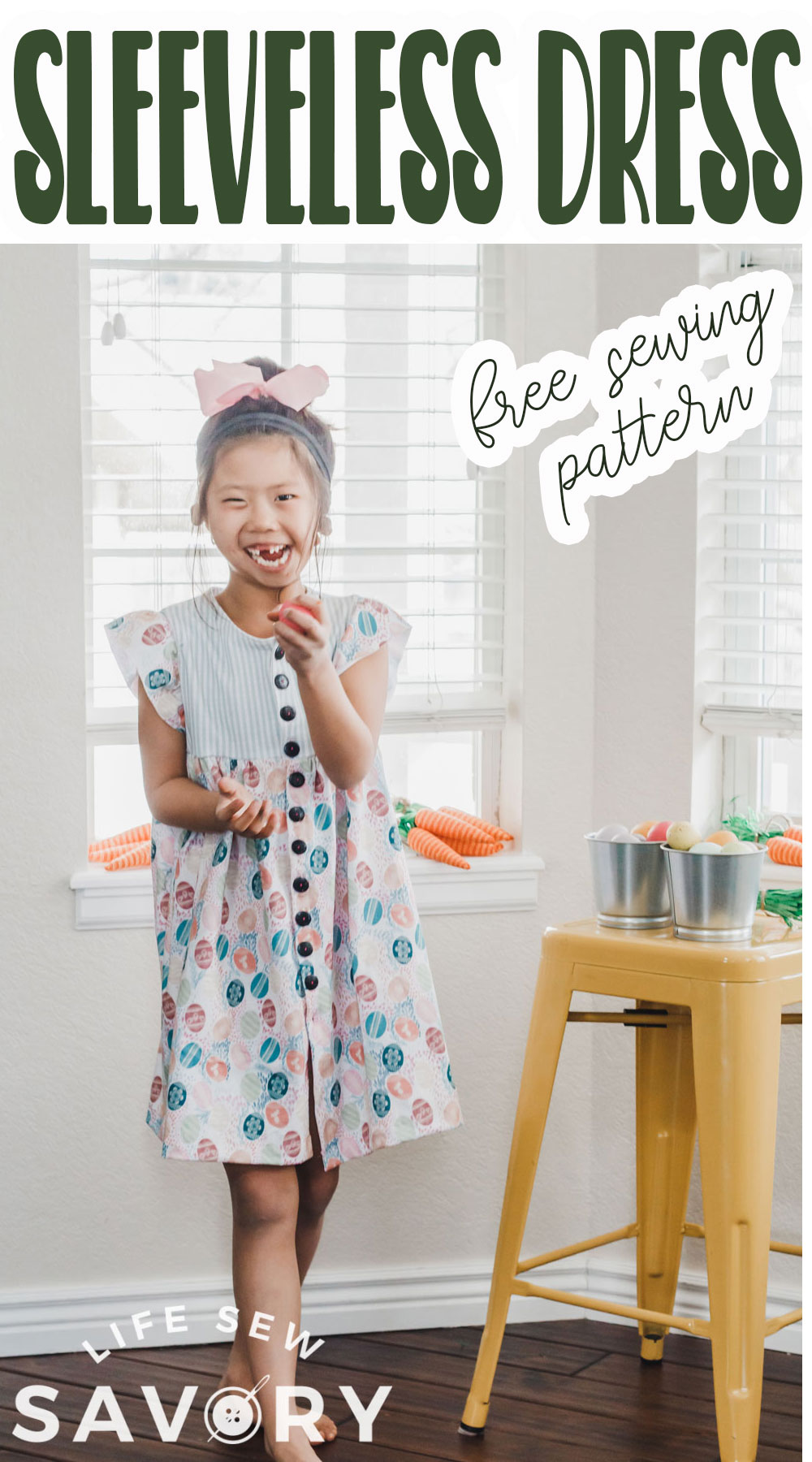 sew a dress with button front pattern and tutorial