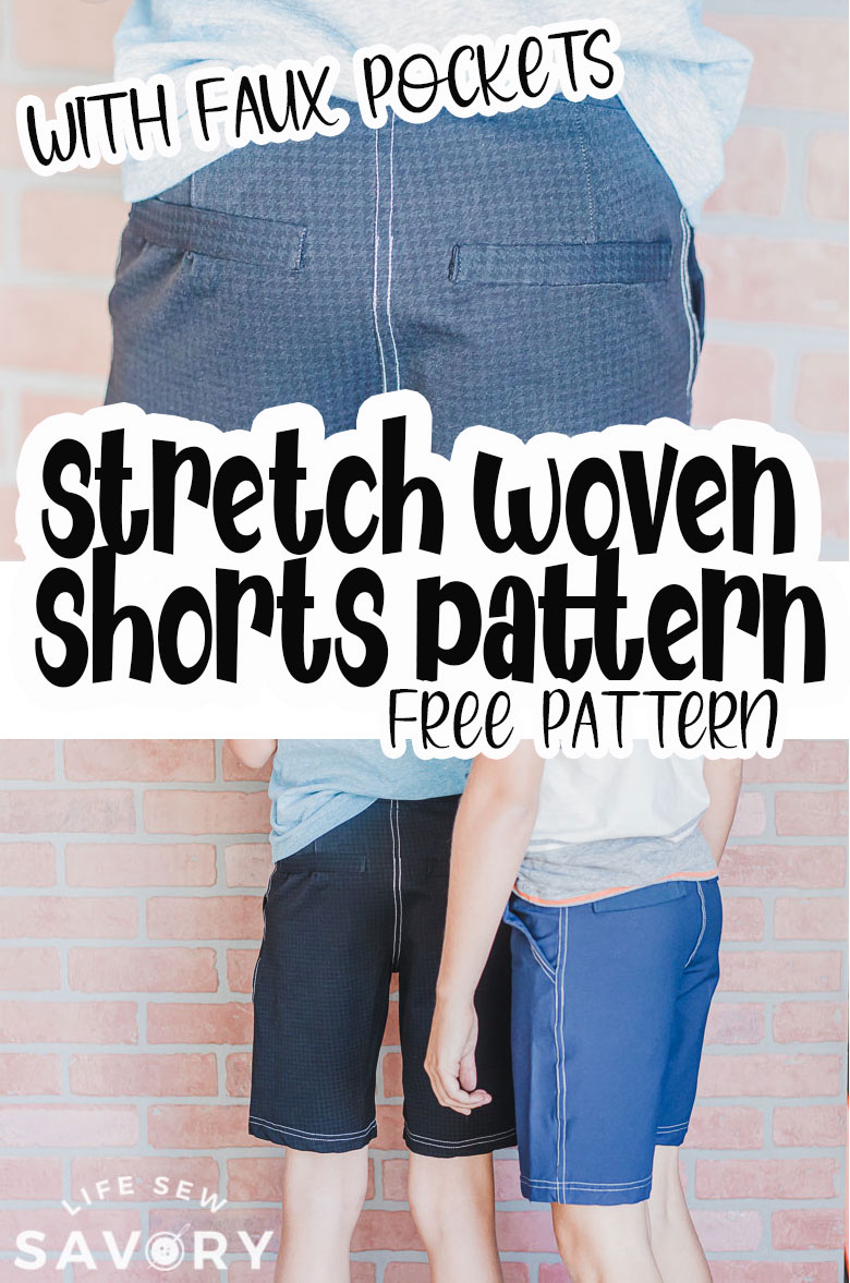 free pdf shorts pattern with faux pockets