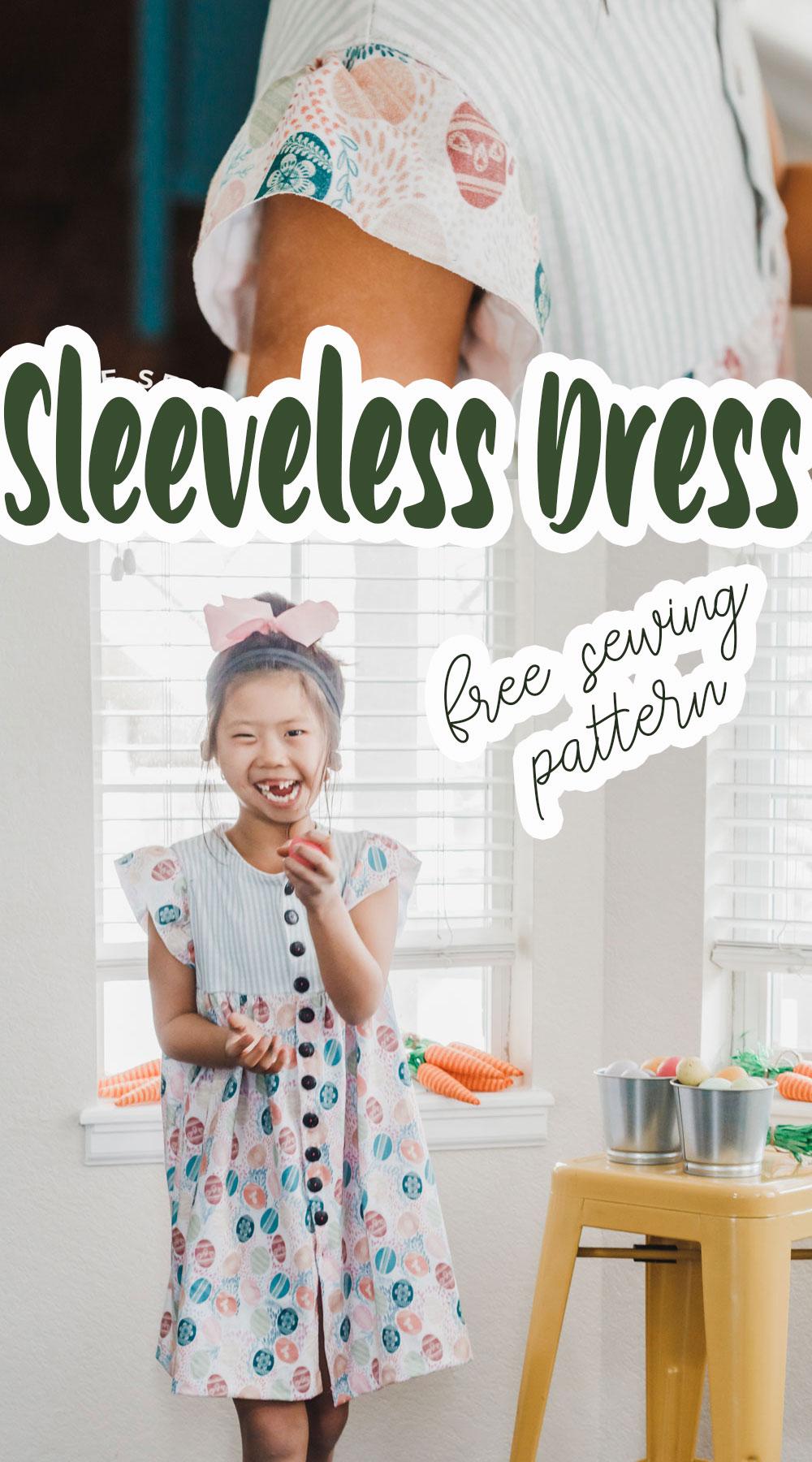 sleeveless dress pattern free from Life Sew Savory