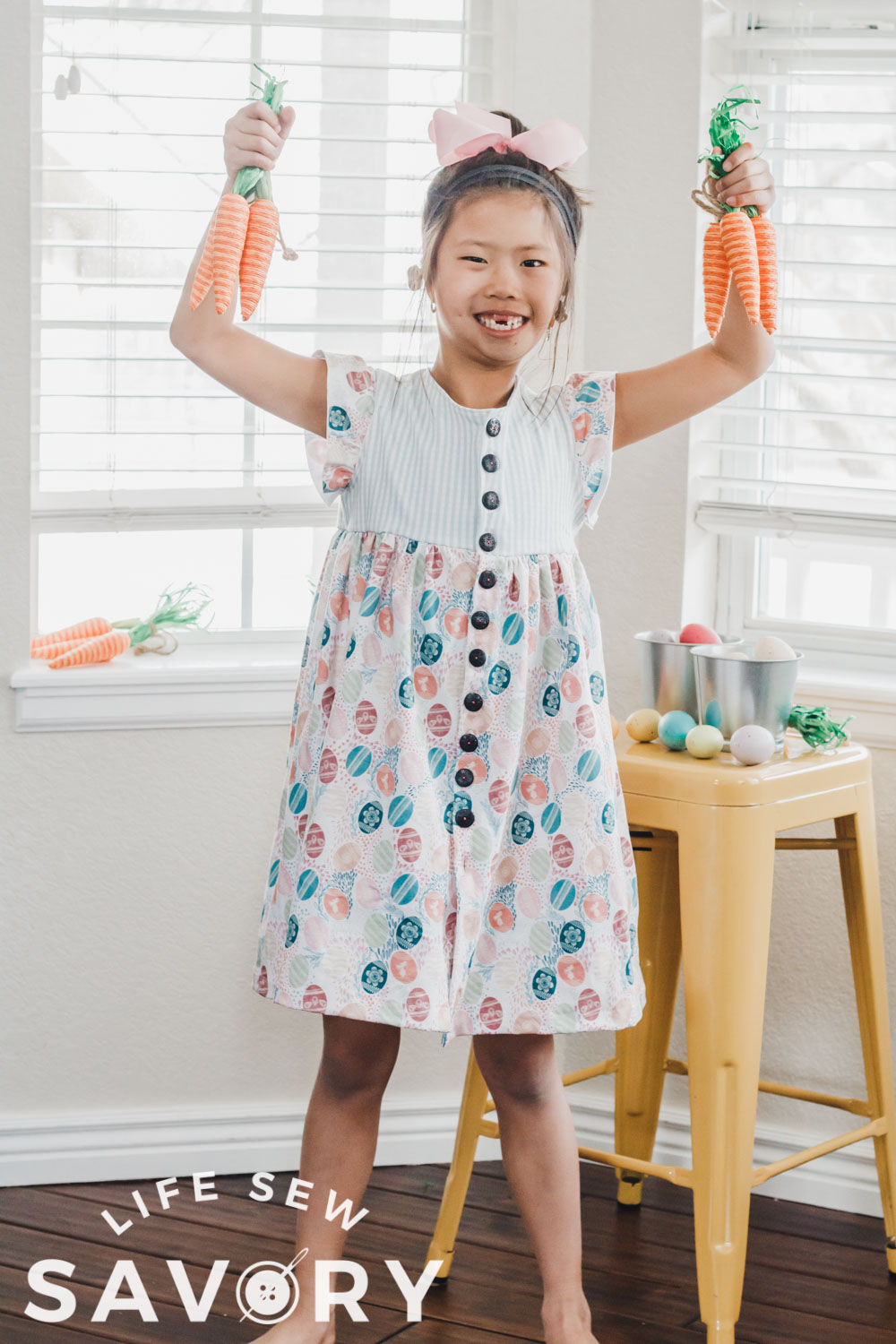 make a dress for Easter with free sewing pattern