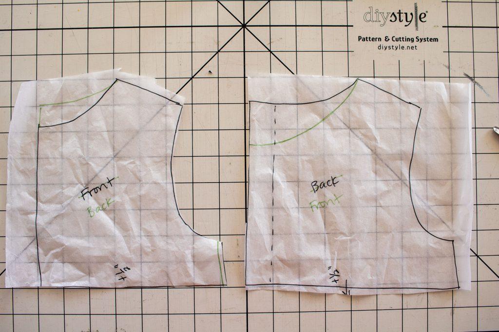sleeveless dress pattern- pattern hacks fort he sleeveless version