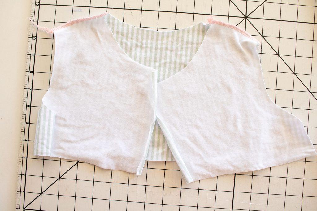 sew shoulder seams