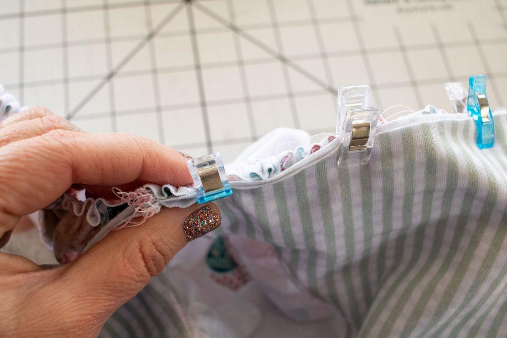 pin skirt to top