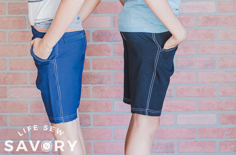 sew shorts with a free pattern