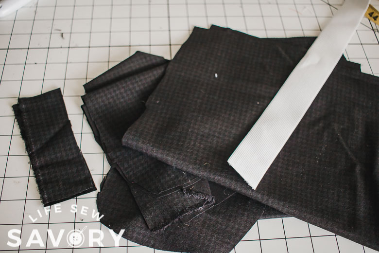 pieces for the woven shorts