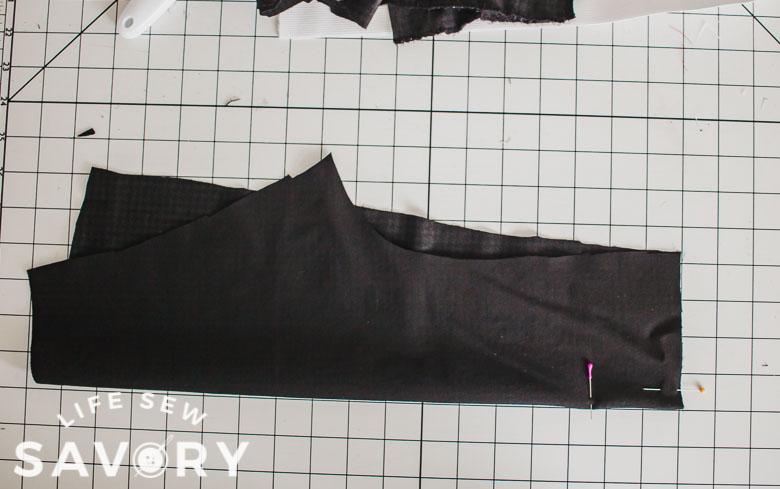 center back pleat on each side