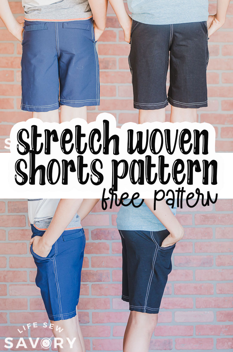 shorts pattern with stretch woven fabric