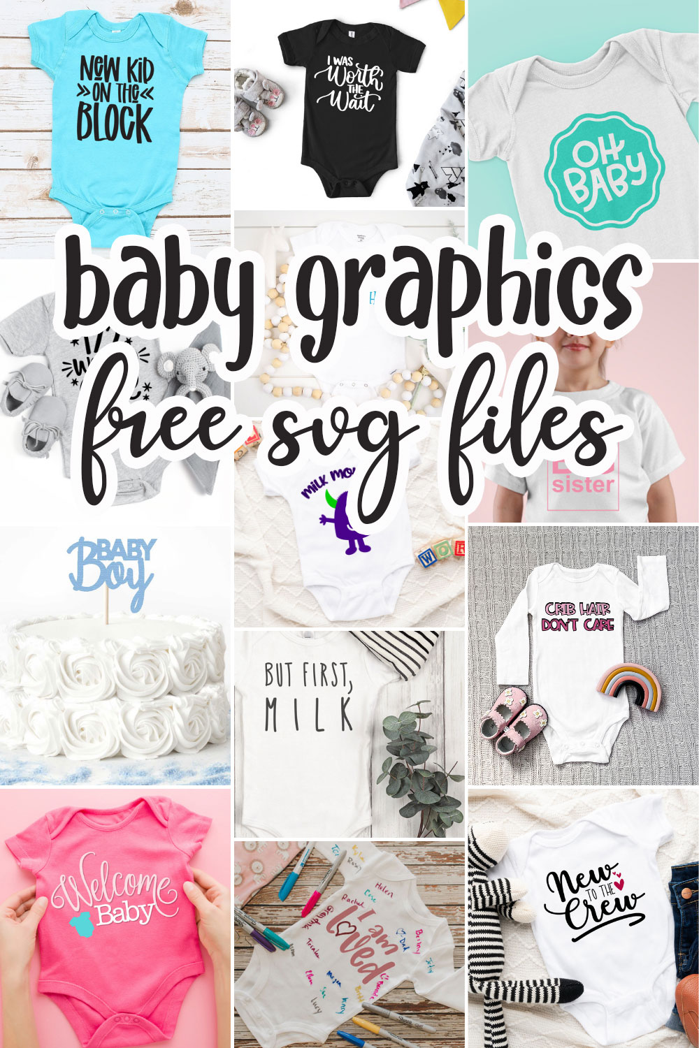 cute baby shower themed free svg