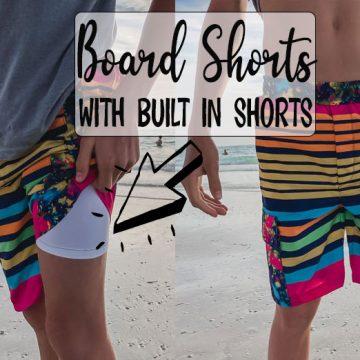 anti-chafe swim shorts sewing pattern