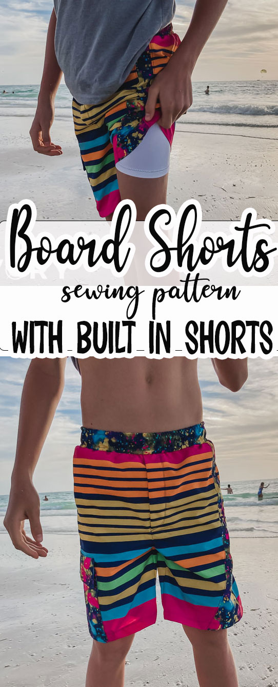 Chafe Free Boys Board Shorts Sewing Tutorial
