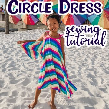 how to sew a circle dress