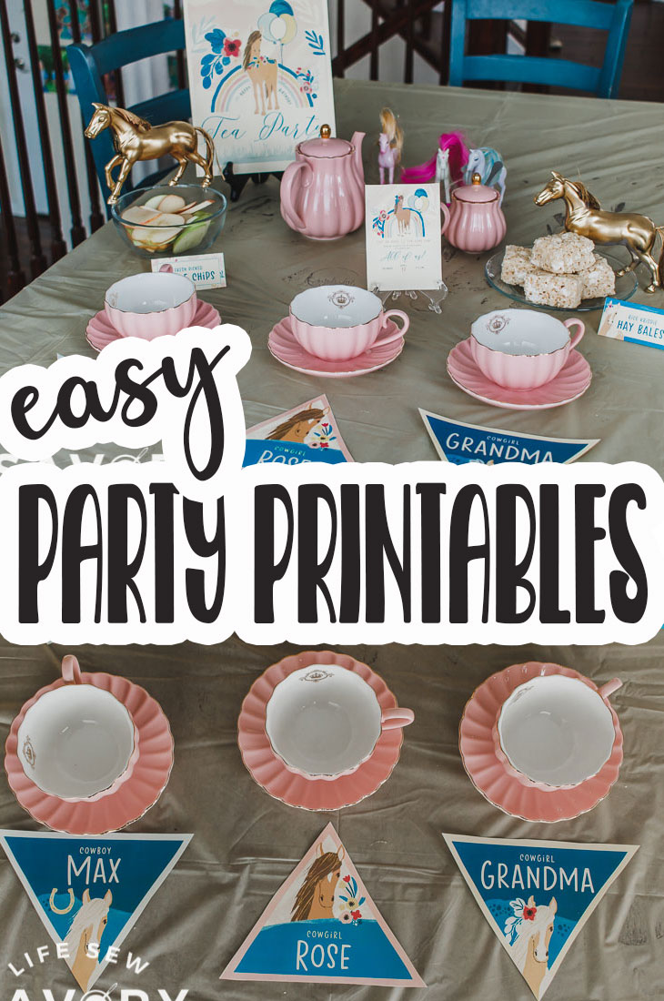 Details on where to get beautiful party printable with Hostess with the Mostess and an adorable tea party for Grandma and my kids. #HostessWithTheMostess #AD
