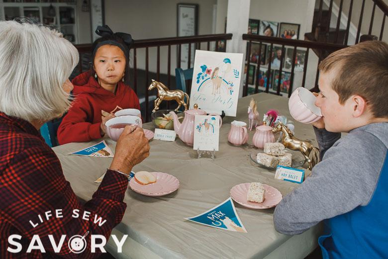 grandma tea party