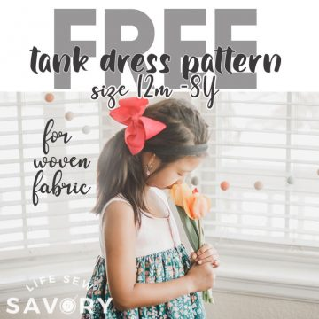 free tank top dress pattern
