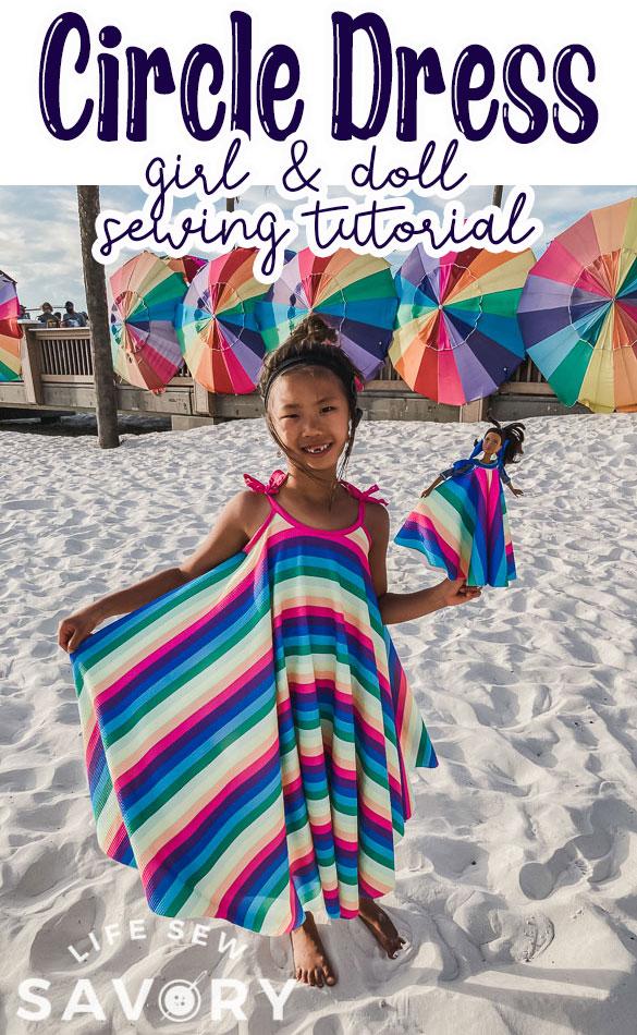 circle dress pattern and tutorial