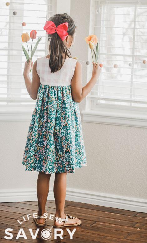 back of tank dress